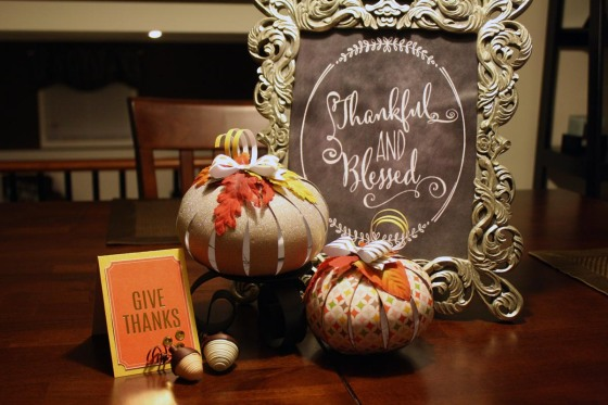 Thanksgiving Tablescape by Chasity Sivanick for #3birdsdesign #paperpumpkins #homedecor #3Dpapershapes