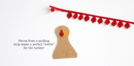 Thanksgiving Turkey Place Cards by Mary Ann Jenkins for 3 Birds Design