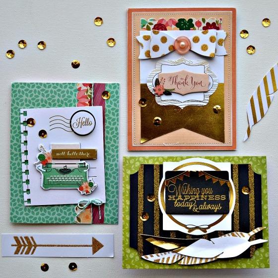 Trio of Handmade Cards by Raechelle Bellus Guest Designer for 3 Birds Design