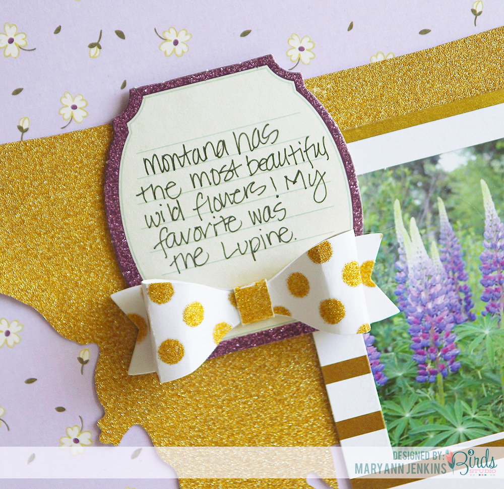 How to scrapbook with glitter - Vacation Flowers Scrapbook Page By Mary Ann Jenkins For 3 Birds Design