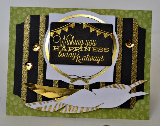 Wishing You Happiness Card by Raechelle Bellus Guest Designer for 3 Birds Design