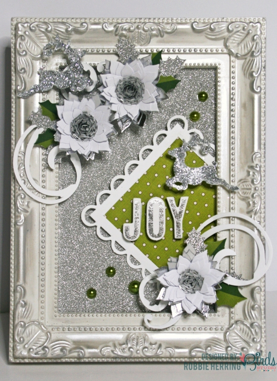 Christmas Joy Home Decor Frame by Robbie Herring for 3 Birds Design using the Holiday Season Quilled Cardmaking Kit