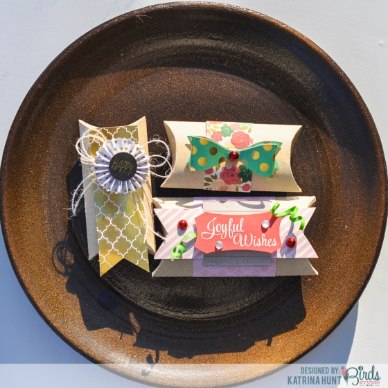 Gift Boxes by Katrina Hunt featuring 3 Birds Design and Therm O Web